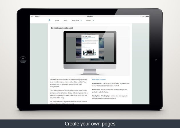 Blogit is a responsive web design theme built for the Tumblr