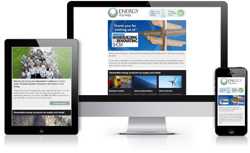 Energy My Way responsive email design