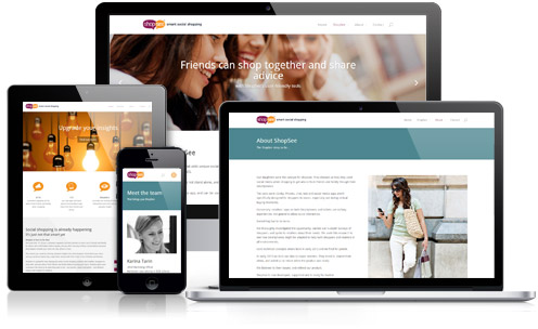ShopSee responsive WordPress web design